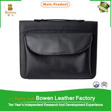 BOWEN - 0044 high quality ring binder / 3 ring binder / brown leather ring binder