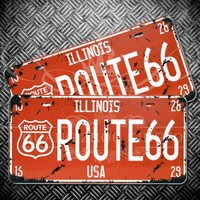 Custom vintage license plates for wall decoration