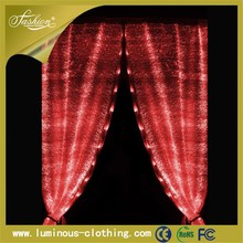 2015 fashion fiber optic fabric decorative curtains on the door