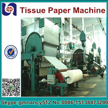 Jumbo roll toilet paper machine /industrial jumbo tissue roll for tissue conversion