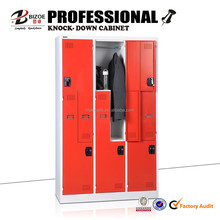 Office furniture metal z shape locker /clothes cabinet / steel gym locker for changing room