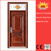 SC-S123 wrought iron accordion doors exterior doors