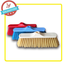 Plastic beautiful broom without pole and hard hair brooms head SY3651