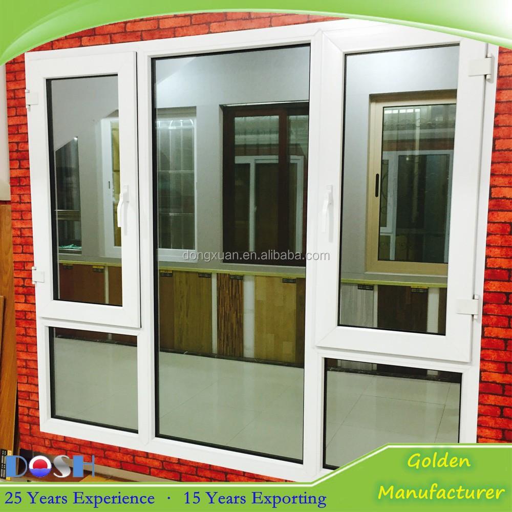 Hot Sale Cheap Pvc Double Casement Window White Upvc