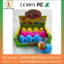 12pcs plastic surprise egg toy modeling clay