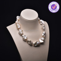 Fireball pearl strands/large baroque pearl strands necklace /nuclated pearl strands