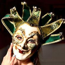 Fashion 2015 New Italy Venetian mask venetian masquerade mask, 7 corners without collar Venetian mask
