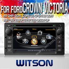 WITSON BLUETOOTH CAR DVD GPS FOR FORD CROWN VICTORIA 200 WITH GPS WIFI 1.6GHZ FREQUENCY DVR SUPPORT WIFI APE MUSIC RAM 8GB FLASH