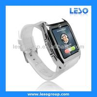 2013 Newest quad band gsm smart watch bluetooth phone for Andriod and iphone
