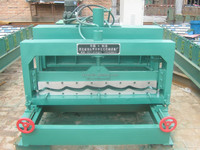 Cangzhou color steel roof glazed tile roll forming machine