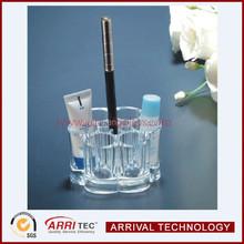 Flower Shape Injection Mold-made Cosmetic Lipstick Eyebrush Acrylic Makeup Holder Organizer