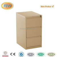 Foshan factory steel 3 drawer files knock down cabinet