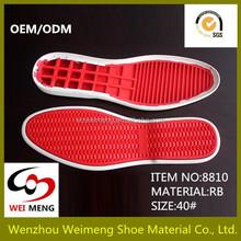 Vermelha sola de sapato sola de sapato fabricante profissional para calçados esportivos venda