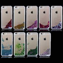Fancy Glittering Flowing Liquid Star Clear PC case For iPhone 6 / 6S, for iphone 6 / 6S glitter Case