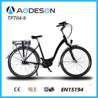 CE EN15194 Certificates TF704-9 aluminium alloy brushles motor wheel e-bike withmid-drive motor for sale
