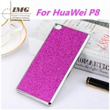 Wholesale china Glitter Bling skin mobile phone case for huawei P8, for P8 cover with 6 colors