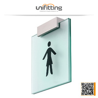Top quality 3-8mm glass acrylic sign holders
