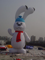 Giant inflatable rabbit cartoon for sale,very cheap inflatable model