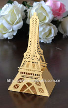 "2014 novelty! laser cut ""eiffel tower"" candy box birthday theme decoration products"
