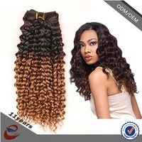 Aliexpress Wholesale Hair Virgin Malaysian Hair Grade 7a Virgin jerry curl Brazilian ombre hair weave