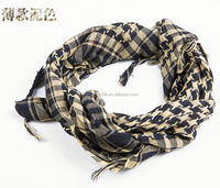 Desert ARAB Hijabs Cotton Military Scarf for men