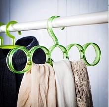 Popular Round Plastic Scarf Hanger with Hooks plastic garment clothes coat hanger wholesale