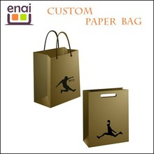 Sporting market craft paper carrier bag /paper bag printing for clothing