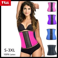 Ladies waist training latex under bust corsets wholesale rubber body slimming corset