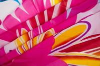Ladies Summer Silk Chiffon Beach Scarf With Oversized Pattern Design Print