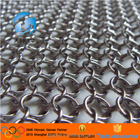 Free Sample Sqaure and Round Shape 4X4 5X5 6X6 7X7 8X8 9X9 Inch Stainless Steel 304 316 316L Metal Chain Fabric