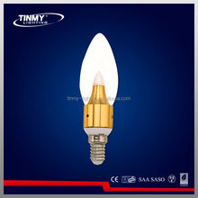 led candle light 3W can be dimmable led lighting
