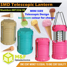 """"""" ice-cream """" colour chinese battery operated mini lantern with 15 smd led"""