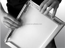 25 mm curvo brillante marco rápido de plata