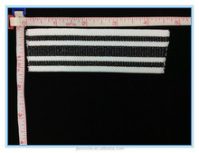 2015 JND Hot Sale Fashion White and Black Jacquard Elastic band for Trimming