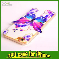 accessories phone case Butterfly design TPU case for iphone 6