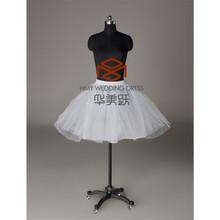 Girls Underskirt Hot Sale Charm White Crinoline Gown Dress Tulle Sexy Short Tutu Petticoats HMY-PPT013