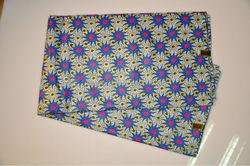 dutch wax fabric 2015 royal blue dot design