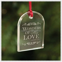 Personlized Glass Clear Dome Ornament For Hanging Decoration