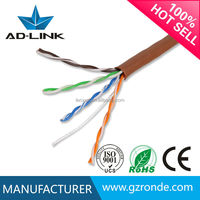 Passed Fluke test UTP/STP/SFTP 22awg/23awg/24awg/25awg solid copper/CCA lan cat5e cable