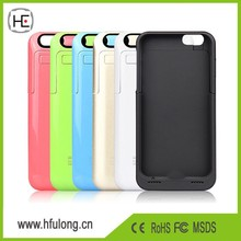 Top Quality 3500mAh External Battery Pack for iPhone 6 Portable Backup Power Charger Case Cover Power Bank Case Eight Colors