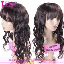 Wholesale super fine swiss lace wig german 100% brazilian hair artificial wig in stock