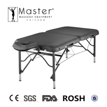 "Master Massage 30"" Ultra-Light lightweight Portable aluminum folding Massage Table - Black(NanoSkin Upholtery)"