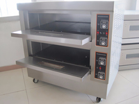 2 deck 4 tray electric economic bread ovens bakery equipment