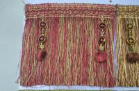 fine quality multi color tassel wholesale,purple curtain tassel fringe trimming