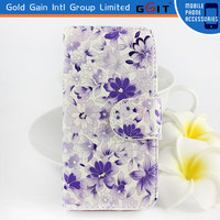 Floral Flip Stand Wallet Leather Case For iPhone 5