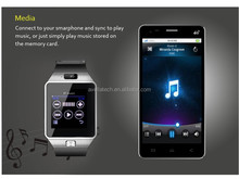 New arrival 1.54'' touch screen DZ09 smart watch with android dual sim card smart watch phone