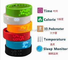 jelly unisex silicon smart watch outdoor simple sports watch
