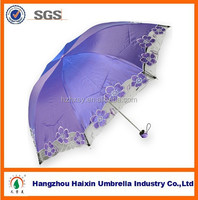 Fashion Ladies Fancy Umbrella with Nice China Embroidery