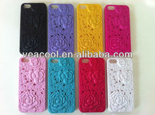 Hollow Rose Plastic hard phone Case Cover For Apple iPhone5 5G 5S case