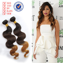 cheap price wholesale natural appearance body wave three tone brazilian ombre hair weaves